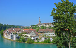 Rivière Aare, Berne, Suisse Image libre de droits