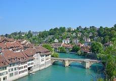 Rivière Aare, Berne, Suisse Images stock
