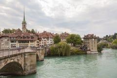 Rivière Aare par Berne Photographie stock libre de droits