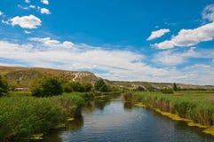 Rivière Aidar en Ukraine Photos libres de droits