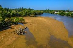 Rivière aride et de marée Image libre de droits
