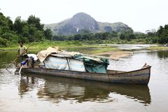 Rivière au Madagascar Photographie stock