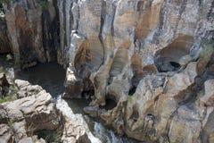 Rivière aux nids de poule de bourkes en Afrique du Sud Images libres de droits