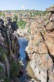 Rivière aux nids de poule de bourkes en Afrique du Sud Photographie stock