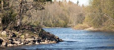 Rivière calme au printemps Photographie stock libre de droits