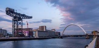 Rivière Clyde panoramique Photographie stock libre de droits