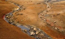 Rivière colorée Photos libres de droits