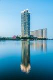 Rivière crépusculaire de vue Photo libre de droits