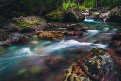 Rivière débordante tranquille Images libres de droits