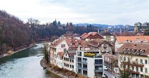 Rivière d'Aare à Berne, Suisse Photographie stock libre de droits