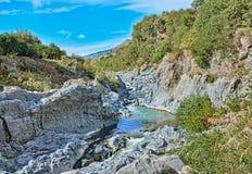 Rivière d'Alcantara Images libres de droits