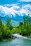 Rivière d'Avrig, Roumanie Photographie stock libre de droits