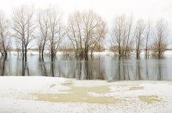 Rivière d'hiver images libres de droits