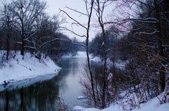 Rivière d'hiver Photographie stock libre de droits