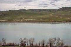 Rivière d'Ili, Kazakhstan Ressort de steppe photos stock