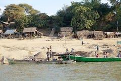 Rivière d'Irrawaddy dans Bagan, Myanmar Photo stock
