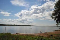 Rivière d'Onega Photographie stock