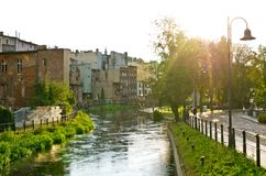 Rivière dans Bydgoszcz, Pologne Photo stock