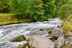 Rivière dans Geiranger, Norvège Image libre de droits