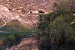 Rivière dans la perspective des roches Photo libre de droits