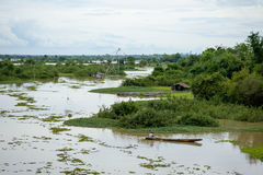 Rivière dans la saison d'inondation Photo libre de droits
