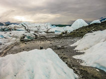 Rivière dans le glacier de Matanuska, Alaska Image libre de droits