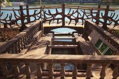 Rivière de barrage Photos stock