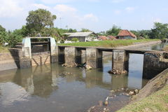 Rivière de barrage Photo libre de droits