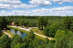 Rivière de Brda dans Fojutowo, Pologne Photo libre de droits