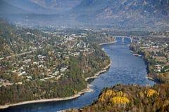 Rivière de Castlegar et de Kootenay Images stock