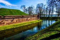 Rivière de château de Nesvizh photographie stock