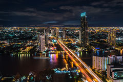 Rivière de Chaophraya, Bangkok Image stock