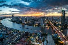 Rivière de Chaophraya, Bangkok Image libre de droits