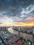 Rivière de Chaophraya, Bangkok Photographie stock