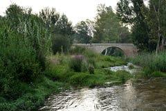 Rivière de Chelva de traînée de l'eau photographie stock libre de droits