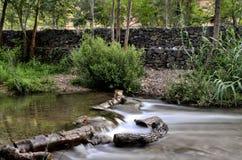 Rivière de Chelva de traînée de l'eau photos libres de droits