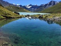Rivière de ciel de l'eau d'Alpes de lac mountain Photos libres de droits