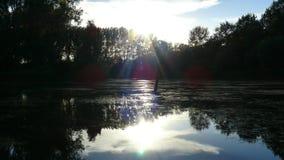 Rivière de coucher du soleil Photographie stock libre de droits