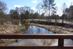 Rivière de Czarna en Pologne Image stock