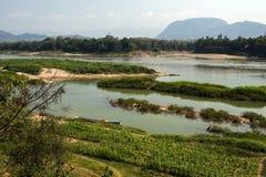 Rivière de delta du Mékong images stock