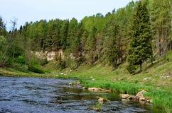 Rivière de Derzha pouvez Photos stock