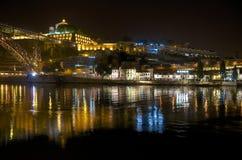 Rivière de Douro la nuit Image stock
