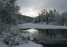 Rivière de fée d'hiver Images libres de droits