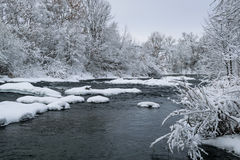 Rivière de fée d'hiver Photographie stock