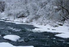 Rivière de fée d'hiver Photos libres de droits