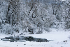 Rivière de fée d'hiver Photos stock