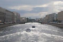 Rivière de Fontanka à Sain-Pétersbourg Russie Images libres de droits