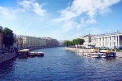 Rivière de Fontanka dans le St Petersbourg Photographie stock libre de droits