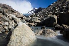 Rivière de glacier dans le Patagonia Images libres de droits