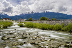 Rivière de Glazne par Bansko Photo libre de droits